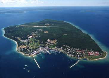 Mackinac Island Aerial View